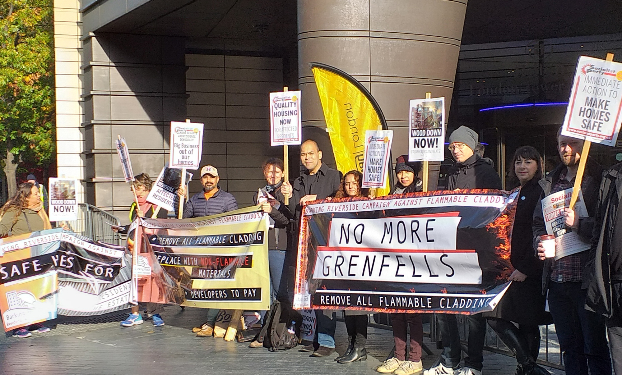 Protesting against Bellway
