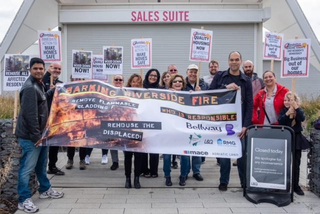 Protest outside L&Q sales office